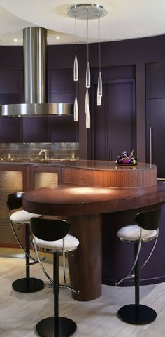 Contemporary kitchen/bar design. Homesandlifestylemedia.com #design #architecture #kitchen