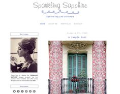 Premade Blogger Template  SPARKLING SAPPHIRE  by LisasMenagerie, $35.00 Blogger Templates, Sapphire, Sparkle, Etsy, Ideas, Thoughts