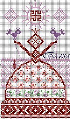 Жива схема вышивки крестом