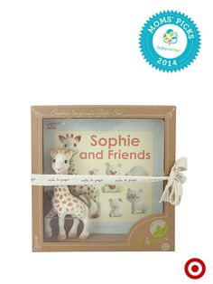 A BabyCenter Top Pick, the Sophie the Giraffe Teether and Book Set is something your little one is sure to love.