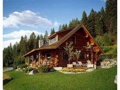 Casa de madera de tronco macizo Montana