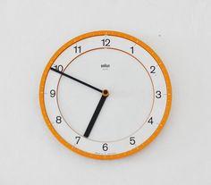 Original BRAUN abk 30 quartz wall clock Dietrich LUBS Dieter Rams modernism…