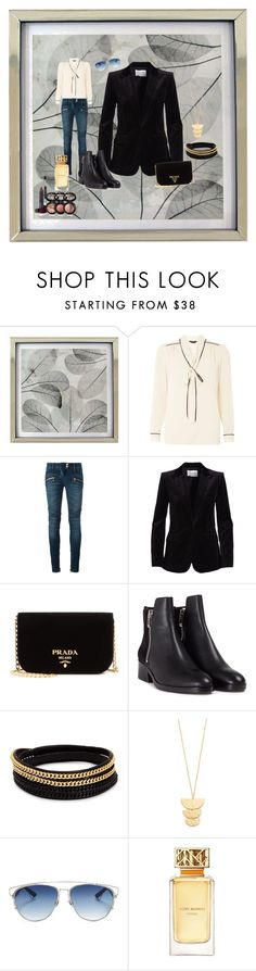 """Fall"" by valerie-42 ❤ liked on Polyvore featuring Dorothy Perkins, Balmain, Frame Denim, Prada, 3.1 Phillip Lim, Vita Fede, Gorjana, Christian Dior, Tory Burch and Laura Geller"