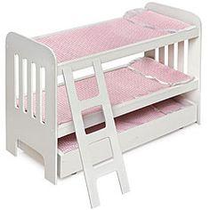 Badger Basket Co Doll Trundle Bunk Beds with Ladder   Overstock.com Shopping - Big Discounts on Badger Basket Furniture & Accessories