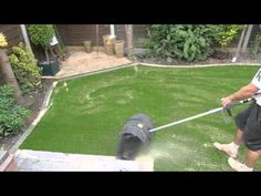 DIY ARTIFICIAL TURF FAKE GRASS LAWN INSTALLATION GUIDE - YouTube