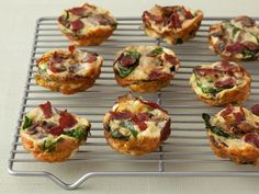 Mini Spinach and Mushroom Quiche: Quiche is a quintessential brunch treat, but it can be super-decadent and high-calorie. This lightened-up version is made in muffin tins for easy portion control. It's crustless, but it still has all the flavorful fillings of the decadent original: bacon, fontina cheese, onion, mushroom and, of course, spinach.