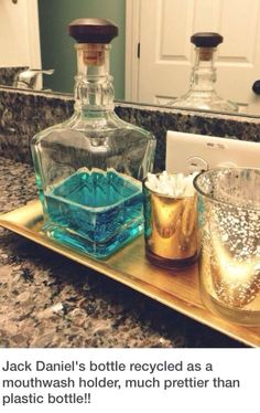 Reuse liquor bottles