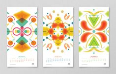 The entire calendar is full of fun colors and patterns... inspired by a kaleidoscope