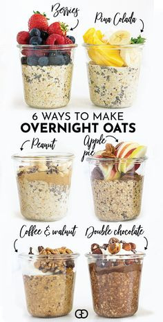Ready to meal prep some overnight oats? Overnight oats are great for a healthy breakfast recipe (or any meal of the day) and they are even better when you can make a large batch, ready to pick up as needed. #overnightoats #healthybreakfast #mealprep