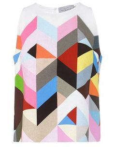 Multi Colour Tile Shelton Top Preen by Thornton Bregazzi
