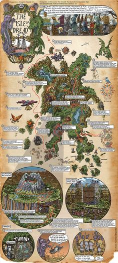 Beautiful 'Dungeons & Dragons' Walkthrough Maps Illustrated by Jason Thompson