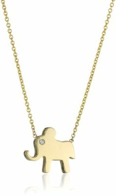 "Zoe Chicco ""Symbols"" 14k Elephant Necklace"