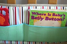 Repurpose crib bumpers when converting a crib into a child's desk and art table.