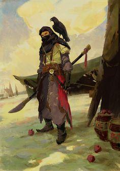Men in fantasy art — theamazingdigitalart: Arabian Knight by Yujin. Fantasy Male, Fantasy Warrior, Fantasy Rpg, Medieval Fantasy, Fantasy Artwork, Male Character, Character Portraits, Fantasy Character Design, Character Design Inspiration