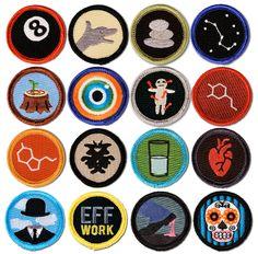 Buy 16 Pack! Merit Badges for Grown-Up Feats, Serotonin, Big Dipper, Optimism, Zen, and more!