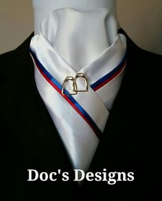 Red Hot and Blue Dressage Stock Tie