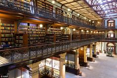 Adelaide library. Australia. Considered one of the most beautiful parts of a library in the world, the Mortlock wing took 18 years to build