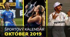 Športový kalendár OKTÓBER 2019: Liga majstrov, Európska liga, kvalifikácia EURO 2020 Motosport, Motogp, Ufc, Formula 1, Baseball Cards, Sports, Garter, Tennis, October