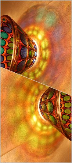 RichanaDragon ||| Butterfly wings. Glass salad bowls with stylized butterfly wings pattern. Rainbow colors candle holder in fairy style. Hand painted stained glass.