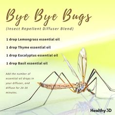 A homemade natural spray recipe to keep the bugs away. Click image to read more. | #essentialoils #naturalremdey #bugspray #essentialoilrecipes #healthy3d @healthy3d
