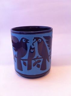 VINTAGE HORNSEA POTTERY BLUE BIRD MUG - JOHN CLAPPISON 1972 | eBay