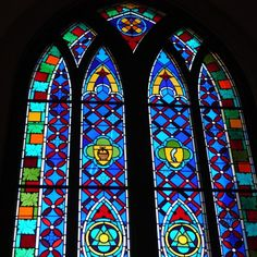 Stained glass window courtesy of Santa delux