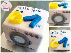 Waschmaschine torte fondant geburtstag 61 birthday cake washingmachine Www.tortenzwerg.at Fondant, Office Supplies, Cake, Washing Machine, Pies, Kuchen, Gum Paste, Torte, Cookies