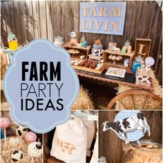 Would your birthday boy like a party filled with the sweetest animal inspired desserts, decorations and favors? It's all here in this precious farm themed boy's 2nd birthday party!