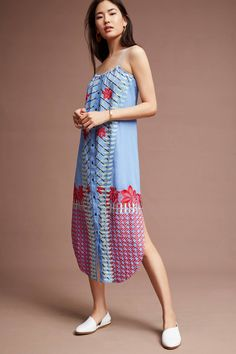 Slide View: 1: Palisades Embroidered Midi Dress