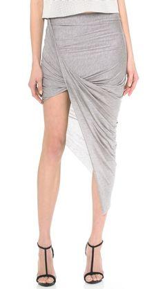 Helmut Lang Asymmetrical Wrap Skirt - Soft Grey Heather