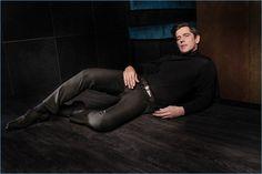 Model icon Werner Schreyer appears in Hiltl's fall-winter 2017 lookbook.