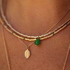 Colliers par milliers....#instabijoux #instaluj #instajewels #instajewelry #instajewellery #instadaily #lujparis #bijouxluj #necklace #colliers #jade #stone #handmade #frenchjewelry ...www.lujparis.com
