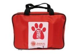 AKC 51-Piece Pet First Aid Kit, Red, Large