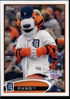 Paws, Mascot of the Detroit Tigers (2012 Topps)