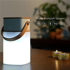 Rock Mulite Bluetooth LED Light Waterproof IPX4 Super Bass Music Subwoofer Speaker Support TF Card