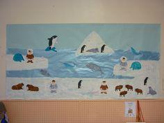 La banquise des MS-GS - Ecole Notre-Dame Art Activities, Classroom Activities, Winter Bulletin Boards, World Crafts, Arctic Animals, Square Photos, Flash Photography, Winter Kids, Simple Bags