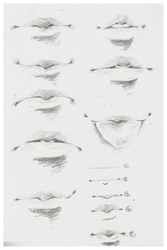 Delineate Your Lips - How to draw lips correctly? The first thing to keep in mind is the shape of your lips: if they are thin or thick and if you have the M (or heart) pronounced or barely suggested. Anatomy Sketches, Art Drawings Sketches Simple, Anatomy Art, Pencil Art Drawings, Drawings Of Lips, Hipster Drawings, Nose Drawing, Guy Drawing, Drawing People