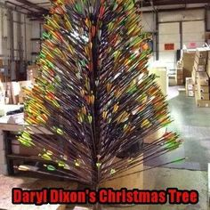 Daryl Dixon Christmas tree...nuf said!  https://www.facebook.com/pages/The-Walking-Dead-Fan-Apparel/328022840724252?fref=photo