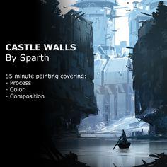 Castle Walls tutorial, sparth . on ArtStation at https://www.artstation.com/artwork/XdYRn