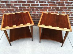pair of mid century modern lane acclaim dovetail end tables ebay or 450 at