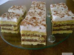 Prajitura cu foaie zdrobita Cupcake Recipes, Tiramisu, Delish, Sweets, Cookies, Ethnic Recipes, Desserts, Food, Squares