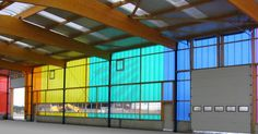 Panel de policarbonato alveolar / para panel / de colores PC 2540-4 bicolor in rainbow colour range Rodeca GmbH