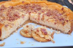Savory Bacon Garlic Cheesecake - Another great idea for cracker/baguette spread during get togethers...