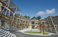 Education benefits from wood – Landamäre school by Wahlström & Steijner. Photo Åke E:son Lindman. #architecture in #wood
