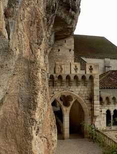It doesn't get much more rustic than being built into the side of a rock!  Castle of Rocamadour - Dordogne, France
