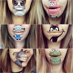Mouth Painting, Girl Face Painting, Face Painting Designs, Body Painting, Face Paint Makeup, Makeup Art, Halloween Make Up, Halloween Face Makeup, Maquillage Yeux Cut Crease
