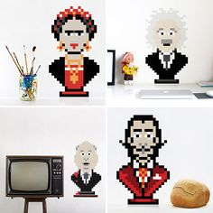 These pixelated puzzles add a touch of geeky design to your decor.