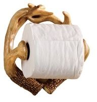 Deer Antler Toilet Paper Holder.. wow why isnt this in our house already.. my dads slacking!!