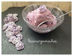 Glace à la violette sans sorbetière | Passions et Gourmandises (By Nalines)