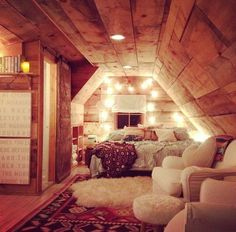 What a sweet little room in the attic